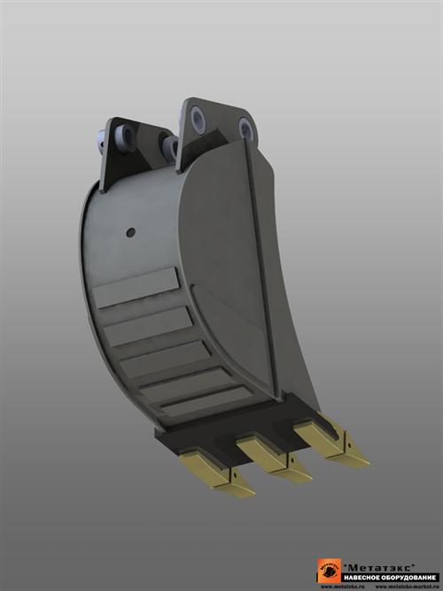 Ковш универсальный для Kubota KX36/KX41/KX61/KX71 (400 мм)  - фото 21056