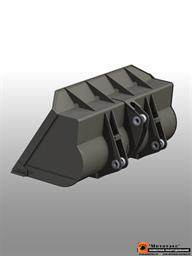 Ковш фронтальный общего назначения для погрузчика массой до 15 тн 2,25 куб. метра