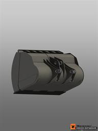 Ковш фронтальный увеличенной емкости  для погрузчика массой до 15 тн 4,0 куб. метра