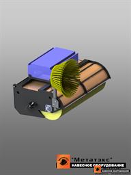 Щетка с бункером для мини-погрузчиков (2000 мм)