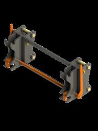 Фронтальное быстросъемное устройство для экскаватора-погрузчика (механическое)