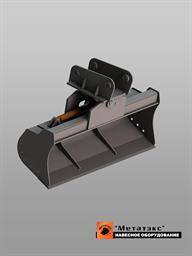 Поворотный планировочный ковш для экскаватора-погрузчика (1500 мм)