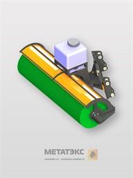 Щетка дорожная с механическим поворотом для JCB 3CX