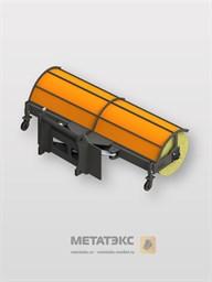 Щетка коммунальная с гидравлическим поворотом для Dieci MiniAgri 25.6 (ширина 2400 мм)